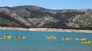pedalo on lake